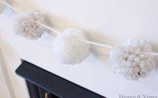 make a pom pom garland, crafts, home decor