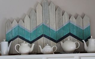 chevron picket fence art, home decor, See my link for more details about this project