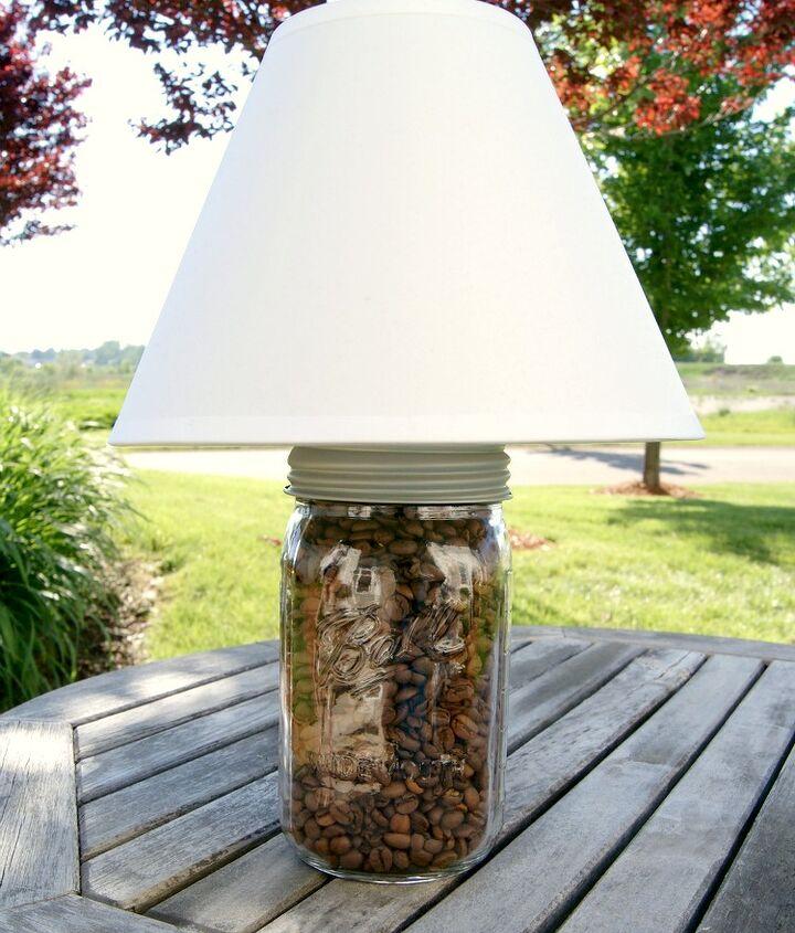 diy mason jar lamp, diy, lighting, mason jars, repurposing upcycling