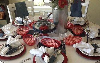 4th of July Denim Table decor