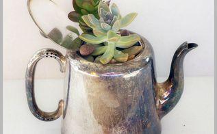repurposed succulent planters, container gardening, flowers, gardening, repurposing upcycling, succulents