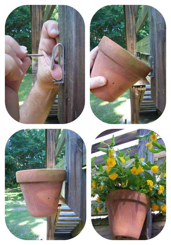 how to hang clay pots, gardening