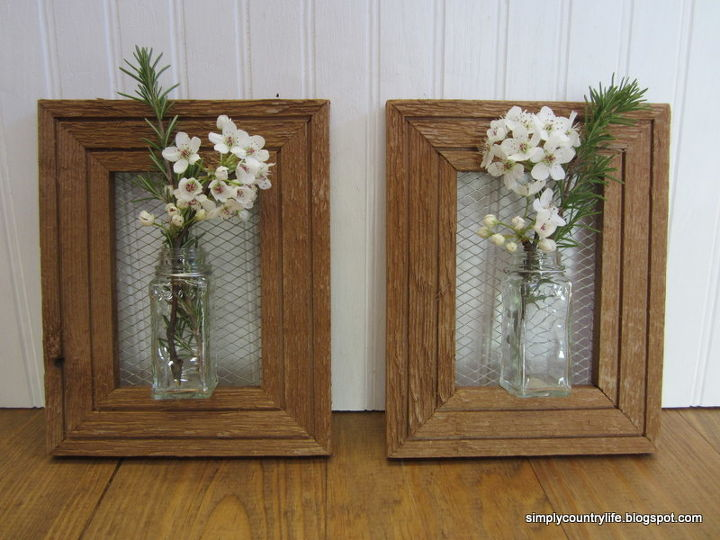 How I Made Wall Vases From Repurposed Spice Jars and Wood Frames ...