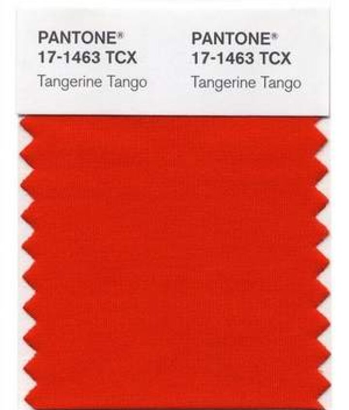 pantone announced tangerine orange as the color of the year for 2012 here is a link, home decor, painting
