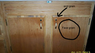 q we have all solid wood kitchen cabinets maybe mahogony not sure need to replace, kitchen cabinets, Veneer wood fronts
