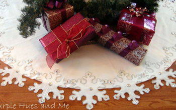 snowflake tree skirt diy, crafts, seasonal holiday decor, Complete your holiday d cor with this festive snowflake tree skirt