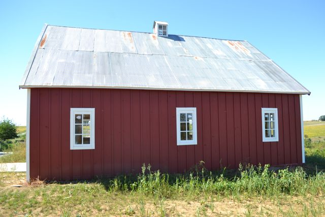 q help me pick the color of my barn entry doors, curb appeal, doors, painting, The white windows are pretty fabulous They also let in loads of light into the barn