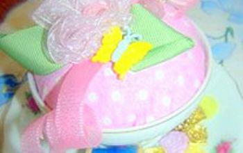 teacup pincushion free tutorial at mamas little treasures, crafts, repurposing upcycling