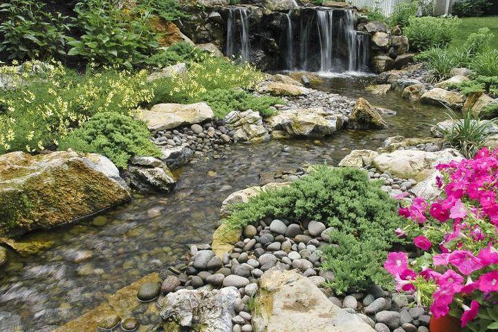 recirculating decorative water feature just like nature, decks, landscape, outdoor living, patio, ponds water features, Backyard Wildlife Habitat