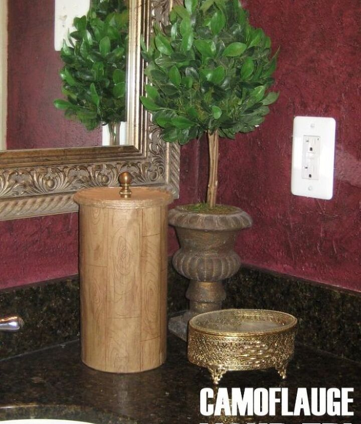 camouflage your tp, crafts, decoupage