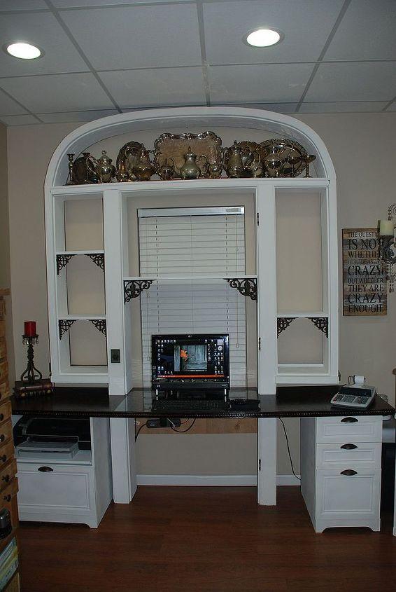 repurposed vintage door frame desk, diy, painted furniture, repurposing upcycling