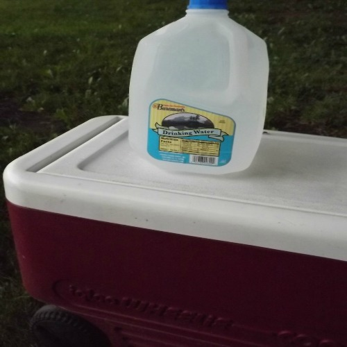 Freeze Jugs of Drinking Water to Help Cut Down on Ice in the Cooler