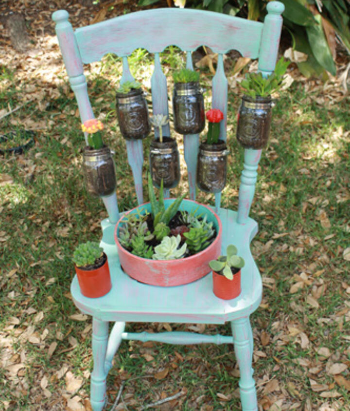 From chair to planter