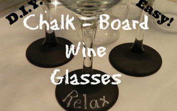 diy chalk board wine glasses, chalkboard paint, crafts, painting, seasonal holiday decor, Make some of these today in time for New Years I picked up some wine glasses at the Dollar Tree They were very heavy and durable Perfect for this project