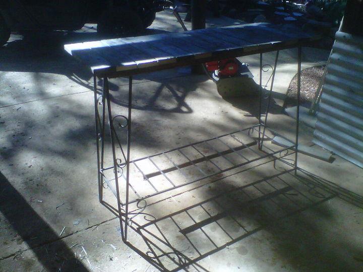 my repurposed kitchen island, home decor, kitchen design, kitchen island, pallet, repurposing upcycling