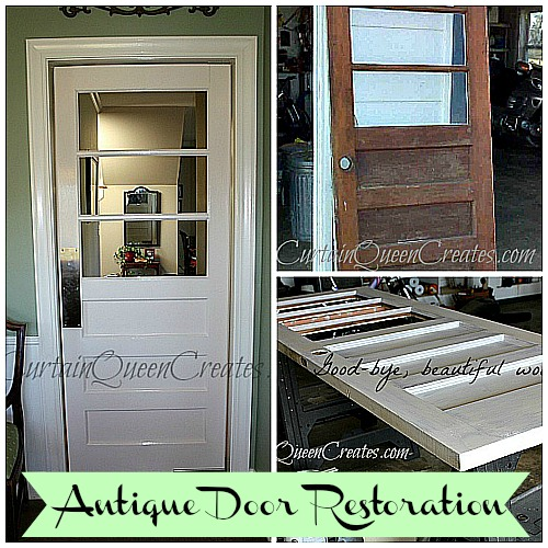 The antique door I bought for $25 needed a lot of work - mostly a mouse - Antique Door Restoration: Mouse Hole Eliminated Hometalk