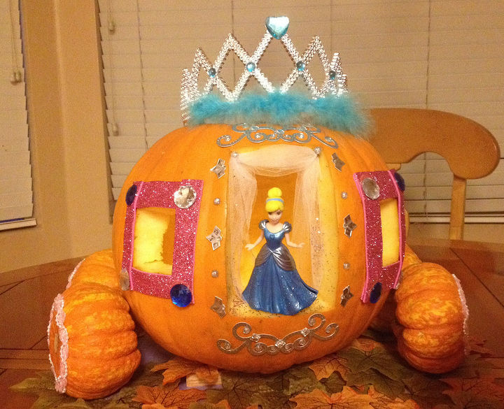 Cinderella in her pumpkin carriage