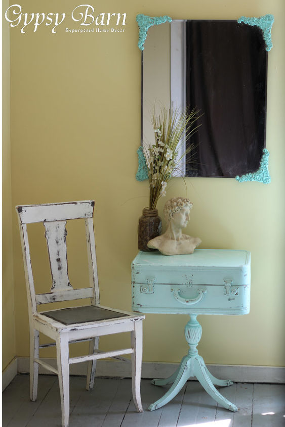 turquoise and trunks, home decor, painted furniture, repurposing upcycling