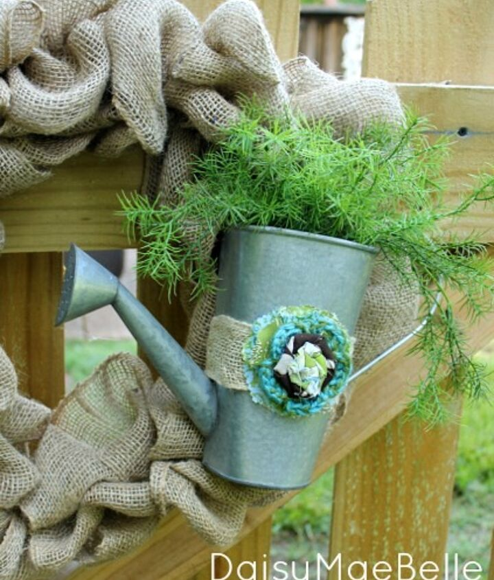 how to make a burlap wreath, crafts, home decor, repurposing upcycling, wreaths