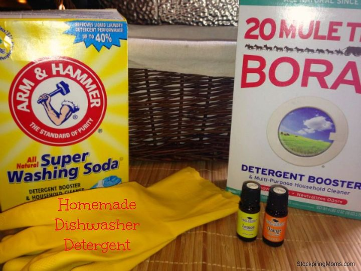 homemade dishwasher detergent, cleaning tips, Homemade Dishwasher Detergent