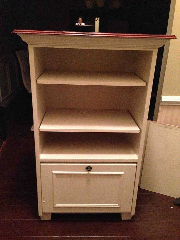 flea market to cat box entertainment center, diy, painted furniture, repurposing upcycling, woodworking projects