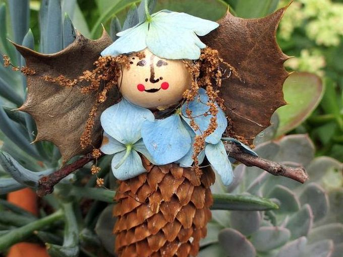 make your own garden fairies, crafts, gardening, See more fairies at