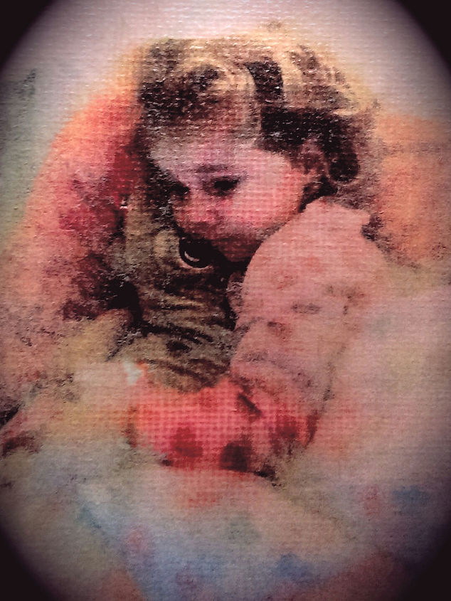 lovely vintage feel image- onto -canvas