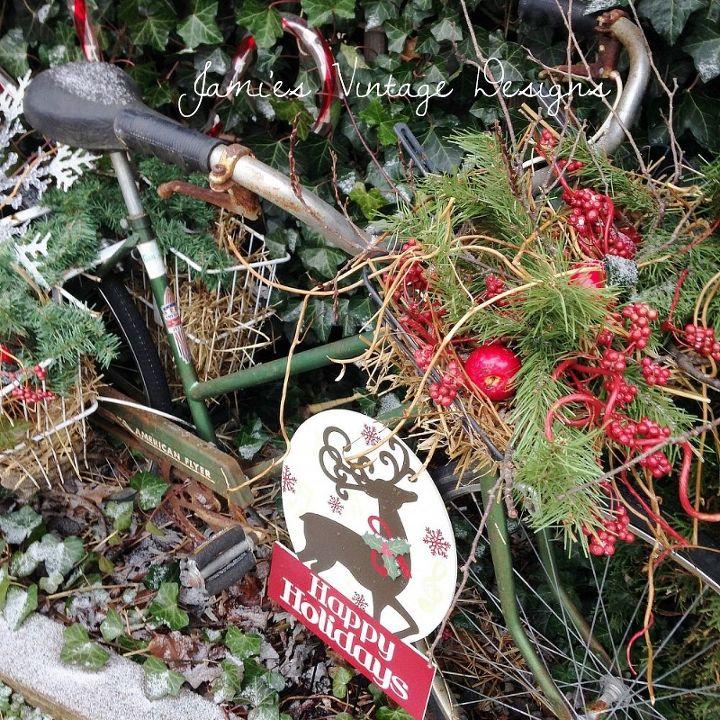 my vintage december garden, gardening