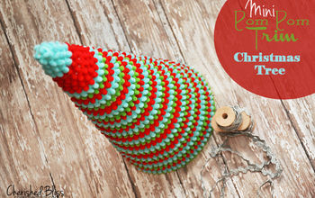 pom pom trim christmas tree, christmas decorations, crafts, home decor, seasonal holiday decor