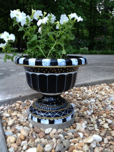 painted flower pots, crafts, flowers, gardening, painting