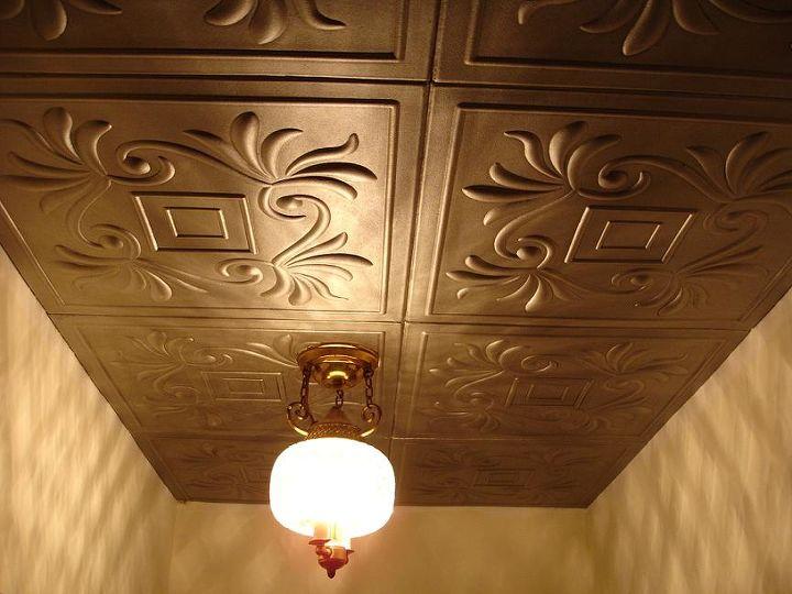 Painting Diy Crafts On Styrofoam Ceiling Tiles Glue Over