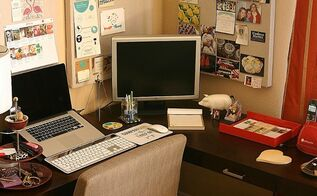 from unused corner to corner office, bedroom ideas, craft rooms, home decor, home office, This is the story of how I got myself a corner office