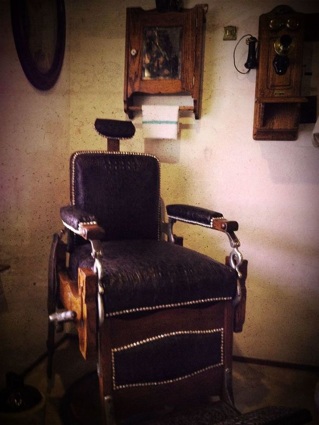 koken barber chair restoration, painted furniture