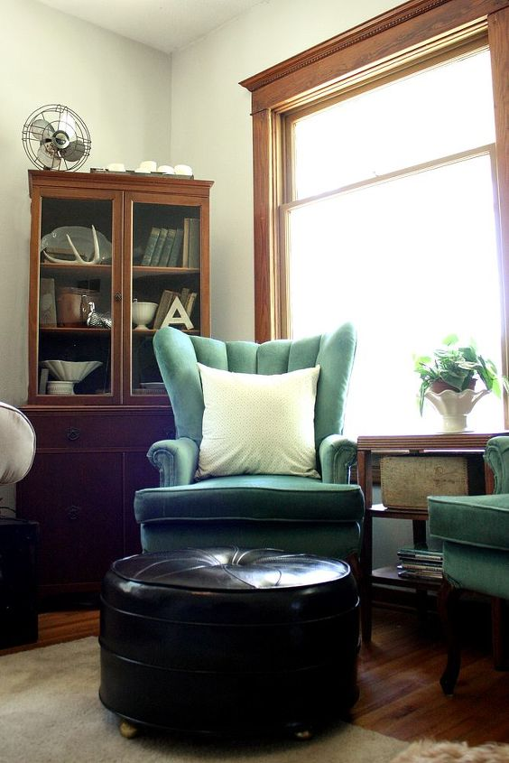 my turquoise chairs, living room ideas, painted furniture, Turquoise Chairs in our 100 year old farmhouse