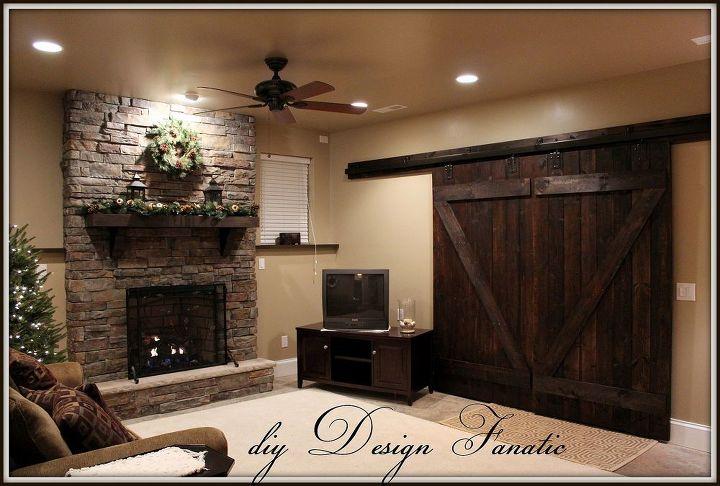 diy barn doors, basement ideas, doors, window treatments