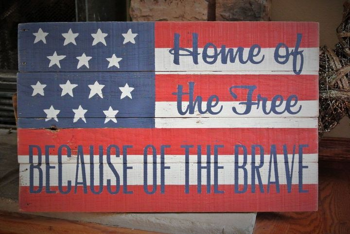 Distressed Wooden American Flag Barn Board Sign Rustic Country Decor Crafts Pallet Patriotic