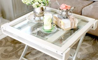 rustic vintage window coffee table, diy, painted furniture, repurposing upcycling, rustic furniture