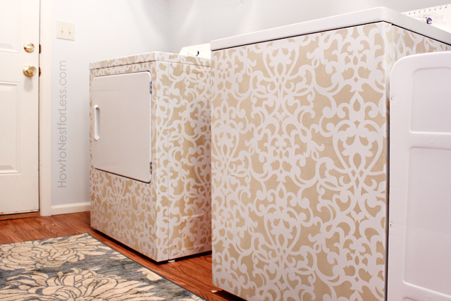 Stenciled Washer & Dryer {from How to Nest for Less}