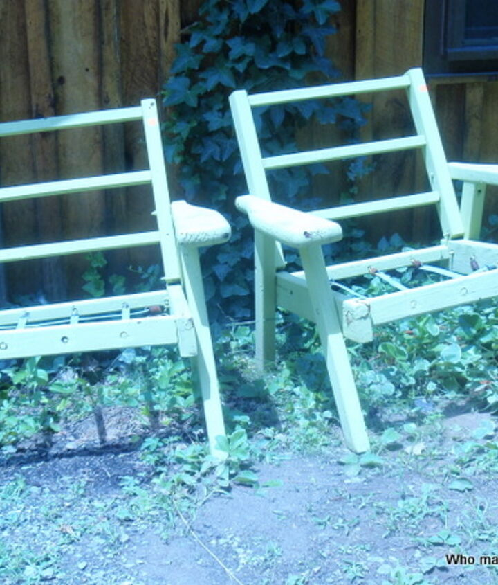 Two chairs begging for love, and only $2 each. What would you do with them?