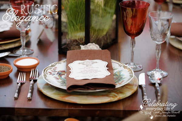 Placesetting on the Outdoor Harvest Table