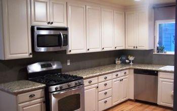 a savvy kitchen remodel on a budget, doors, home decor, kitchen backsplash, kitchen design, Our pretty new kitchen