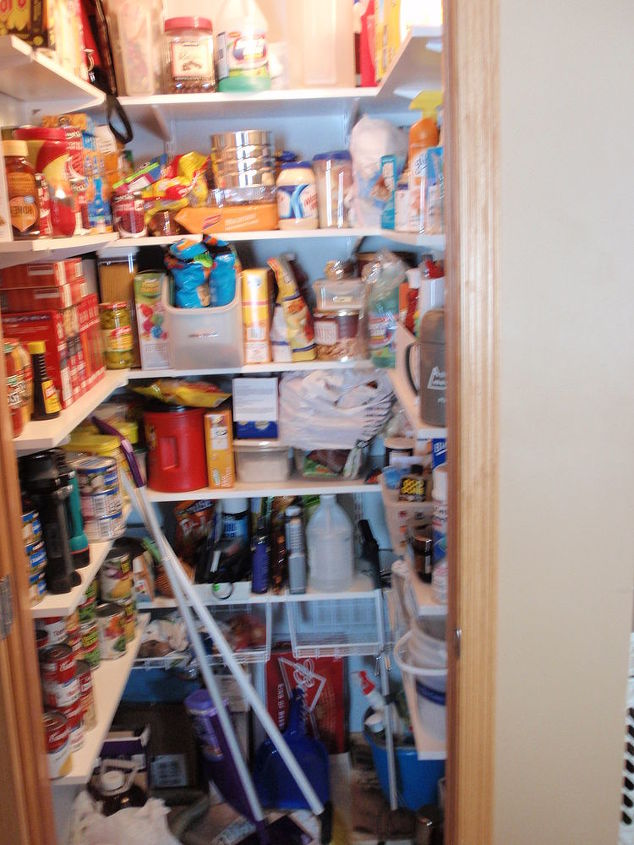 Finished Pantry. (Has been organized since photo was taken.)