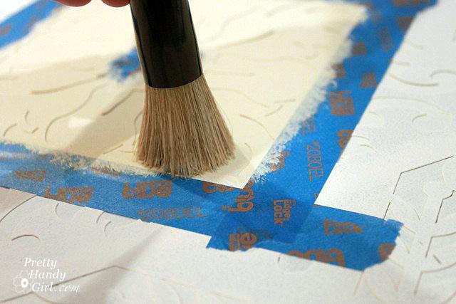 Add second color using stencil brush.