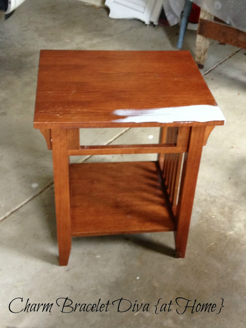 Here S The Before Photo Of A 4 99 Goodwill Mission Style End Table