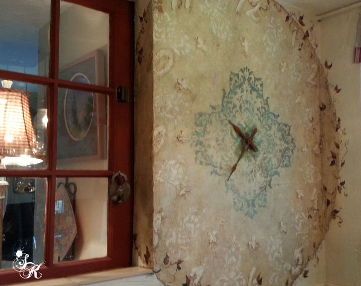 sk s clock stops at nothing, home decor, painting, repurposing upcycling