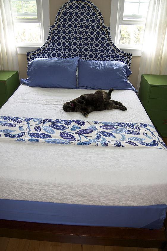 AJ enjoying her new bed