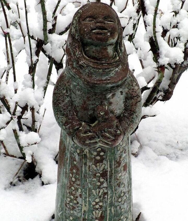 Little Bird Woman in the snow