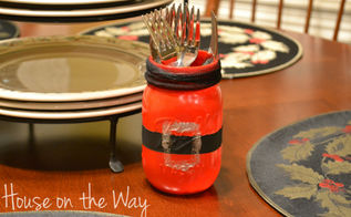 make a santa s mason jar belt, crafts, mason jars, seasonal holiday decor