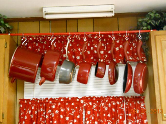 hanging pot rack, diy, kitchen design, storage ideas