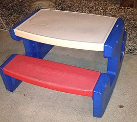 Redoing A Little Tikes Table, Painted Furniture, DRAB
